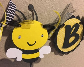 Bumble Bee Birthday Banner