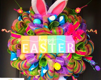 Easter bunny wreath, Easter wreath, bunny, bunny bottom, Easter Wreath for front door, Spring Wreath, wreath for Front, wreaths for spring