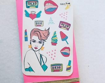 80s Theme Sticker Sheet