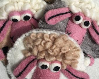 Handfelted SHEEP PURSE