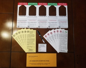 EV Etiquette Survival Pack GIFT PACK - Hang Tags, Charge Notices and Sticky Note Requests