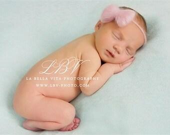 Simple Headpiece | Tiny Headband | Mohair Headband | Bow Headband Baby | Newborn Photo Prop
