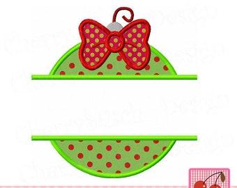 Christmas Ornament Split Ornament Machine Embroidery Applique Design CH0083 -4x4 5x5 6x6 inch