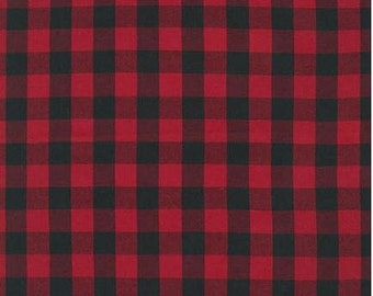 Red Buffalo Plaid from Robert Kaufman's House of Wales Collection