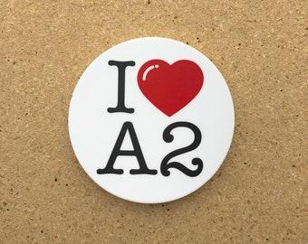 I Heart A2 Sticker
