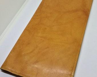 Vintage Wallet / Soft Leather / Retro Bi Fold Wallet / Breast Pocket Style / Travel Documents / Card Holder / Gentlemen /Carryall Accessory