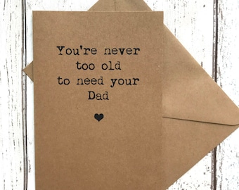 Dad birthday card, fathers day card, funny fathers day card, dad card, dad card funny, card for dad, dad birthday, funny dad card