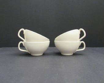 Vintage Franciscan 'Echo' Pink & Grey Arrow Tea Cups, Set of 4 (E6480)