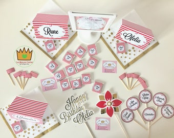 Custom candy bar party Kit