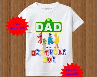 Sesame Street Dad Shirt - Raglan Adult Shirt Available