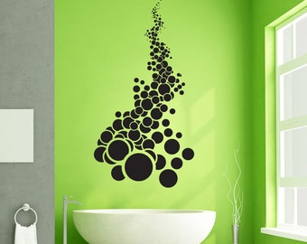 Vinyl Wall Art Decal Sticker  Falling Circles 1303m