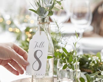 TABLE NUMBERS, Wedding Decor, 1 through 12 tags
