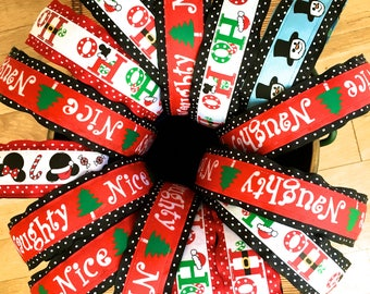 SALE - Reversible Holiday Headbands / Reversible Christmas Headbands / Holifay Headbands / Christmas Headbands / Childrens Headbands /
