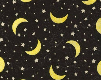 Timeless Treasures - Crescent Moons & Stars