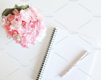 Styled Stock Photo | Flowers & Notebook | Blog stock photo, stock image, stock photography, blog photography