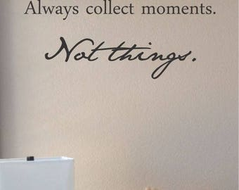 Moments Vinyl Wall Decal