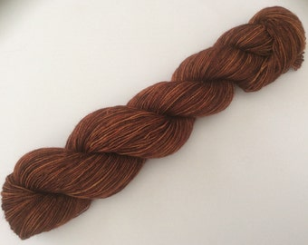 Rust - hand-dyed sockyarn 3.5 oz 500 yds