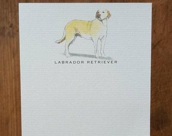 Yellow Labrador Retriever Dog Note Card Set