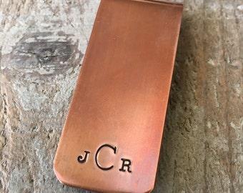 Monogram Money Clip, Personalized Money Clip, Gift For Dad, Gift For Groom, Gift For Groomsman, Custom Hand Stamped Money Clip, Initials