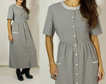 90s Prairie dress. Gingham.