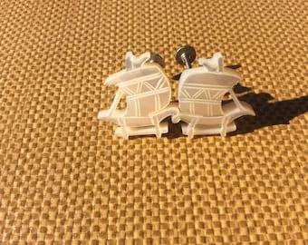 Abalone 1930's Ship Earrings