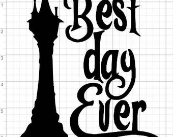 Iron On Heat Transfer Vinyl Magical Decal - Best day Ever