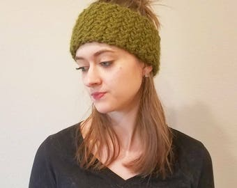 Herringbone Earwarmer || Headband || Lemongrass