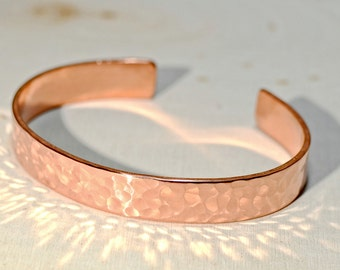 Hammered Copper Cuff Bracelet with Radiance - BR672