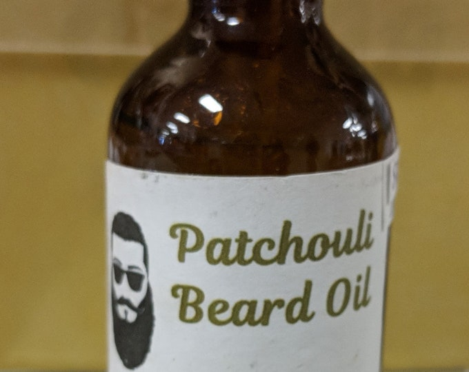 Patchouli / Scented Beard Oil / Beard Conditioner / Beard Repair / Beard Softener / Beard Balm / Beard Tonic