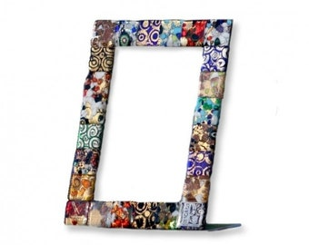 Murano Glass Picture Frame, Mosaic Motif Picture Frame, Colored Glass  Frame, Patchwork Looking