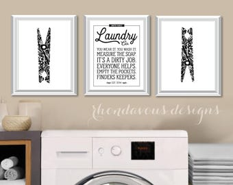 Laundry Room Art Print. Farmhouse Decor. Laundry Room Sign. Laundry Decor. Laundry Room Decor. Laundry Room Print. Laundry Room Rules. NS861