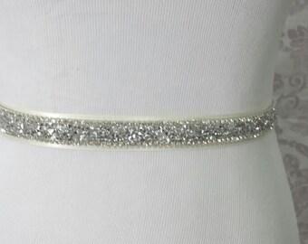 Wedding Sash - Bridal belt - bridal sash - bridal rhinestone sash - Wedding Sparking sash - bridal rhinestone belt