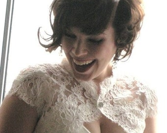 The Meagan Bridal Shrug- White or Ivory