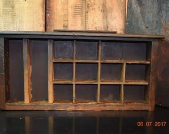 1920's Antique Industrial Shelf/ Drawer