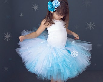 Snow Princess Tutu,  Snow Princess, Snow Princess Party, Winter Wonderland Tutu, Blue and White Tutu