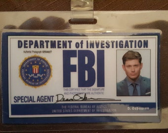 FBI Badge for Dean Winchester from Supernatural