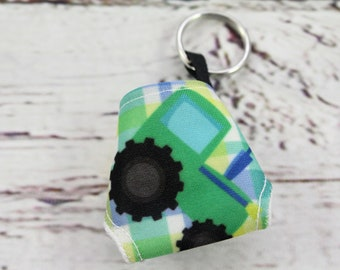 tractor diaper keychain - keychains for women - baby shower favors - present topper -baby shower gift -baby shower diaper cake - zipper pull