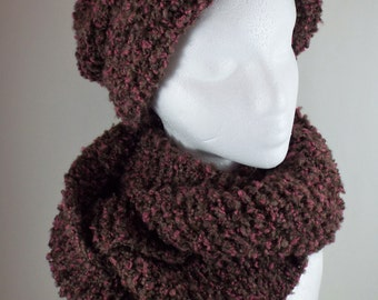 Winter Hat And Scarf Set Chunky Knit Hat And Scarf Set Knit Hat And Cowl Set Holiday Gift Set Scarf Gift Set Infinity Scarf And Hat