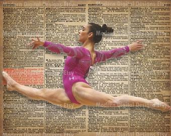 Aly Raisman Printable Typography Text Art Word Art Motivational Poster, USA Gymnast INSTANT DOWNLOAD
