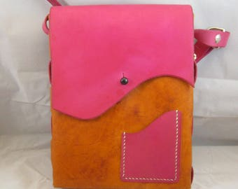 Pink and Tan Casino Purse