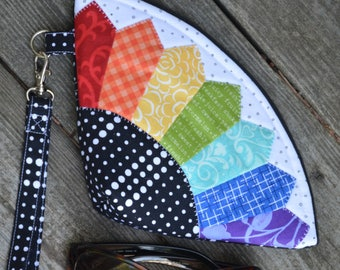 PATTERN PETAL POUCH Fan Design bag     We combine shipping