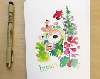 Bloom, 5x7 card, Ready to Ship greeting card