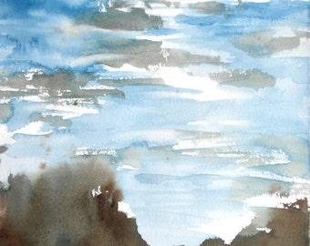 New England Spring-Scape No.98, original watercolor