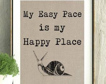 Easy Pace, Happy Place, Running Quote, Runner GIft,GIft for Runner,Running,Easy Pace Quote,Marathon,Long Run,Running Stuff, Running Wall Art