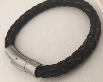 Single Wrap Horse Hair Bracelet | Small Bracelet | Stainless Steel Clasp