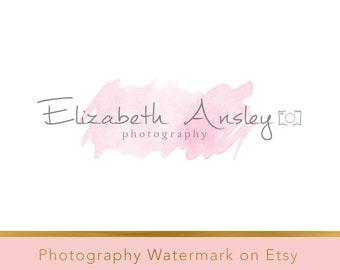 Instant download logo - DIY Pre-made Logo - Photo Watermark - Watermark Design - Whimsical Logo - Watercolor Logo - PSD logo - Watercolor 95
