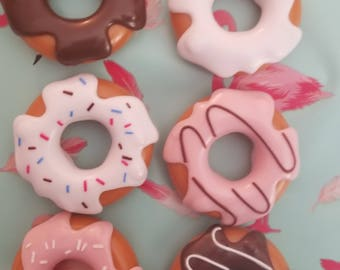 Donut, Donut barrette, Donut brooch, Donut headband, Donut necklace, Kawaii