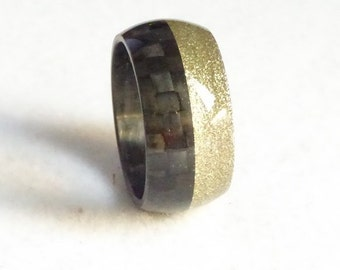 carbon fiber ring golg colour