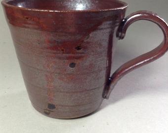 Handmade stoneware coffee mug.