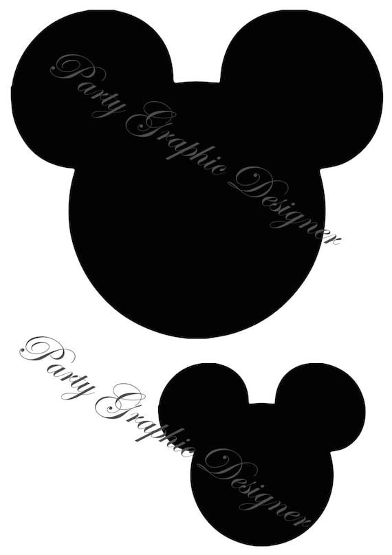 Silhouettes de t te de mickey mouse disney - Dessin tete de minnie ...
